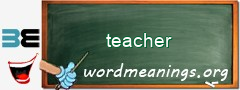 WordMeaning blackboard for teacher